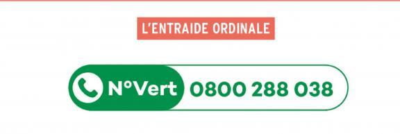 Le numéro vert de l'entraide ordinale